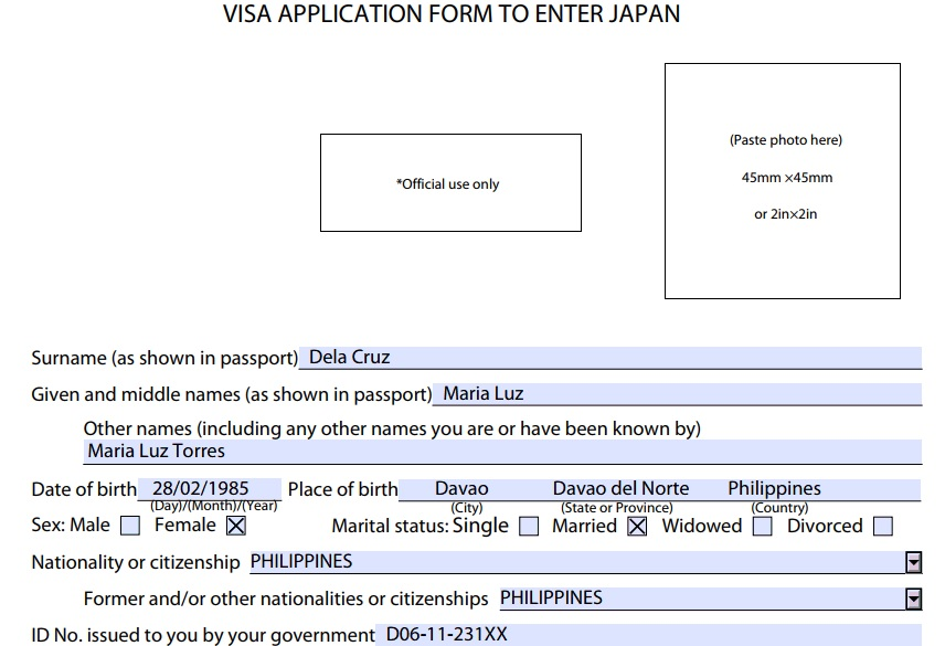 Japan Tourist Visa Application In Philippines For Housewife